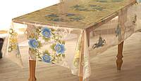 Клеёнка-скатерть полупрозрачная силиконовая на кухонный стол