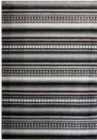 Ковёр Kolibri точки и линии - черный 0.80х1.50 м.
