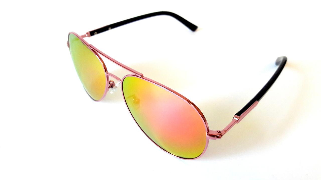 Солнцезащитные очки Omega авиатор в тонком золотом металле, зеркальные -  Интернет-магазин «Komforty 21874816325
