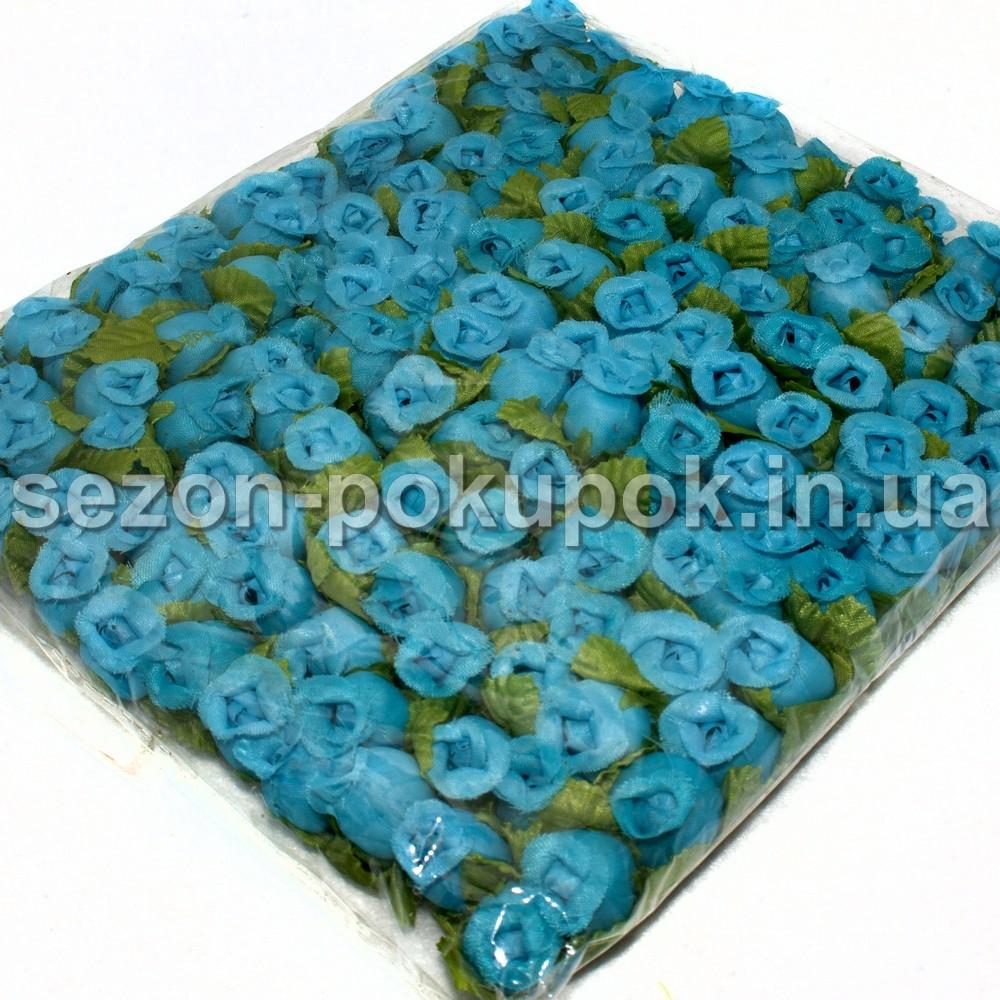 "Цветок ""Бутон розы"" (цена за пачку  144 шт). Цвет - бирюзовый"