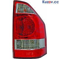 Фонарь задний Mitsubishi Pajero Wagon 3 '03-07 левый (DEPO) светло-красный, на крыле