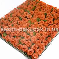 """Цветок """"Бутон розы"""" (цена за пачку  144 шт). Цвет - оранжевый"""