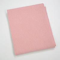 Трикотаж кашкорсе (резинка) Розовый меланж
