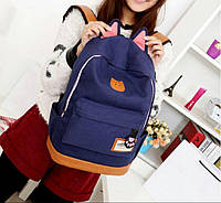 Рюкзак женский Котик (синий)