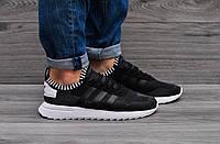 Мужские  кроссовки Adidas (сетка черные)
