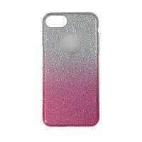 Чехол силиконовый Shine с отливом и цветной накладкой Apple iPhone 7