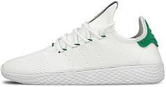 Мужские кроссовки Adidas x Pharrell Williams Tennis Hu Primeknit White/Green
