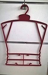 Плечики взрослая рамка 29 см. цветная
