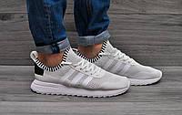 Мужские  кроссовки Adidas (сетка белые)
