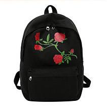 Рюкзак c розами (черный)