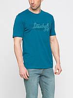 Мужская футболка LC Waikiki изумрудного цвета с надписью на груди Istanbul 94, фото 1