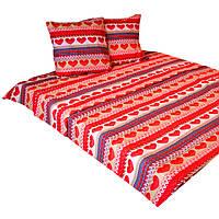 """Комплект постельного белья двуспальный 180/220, нав-ки 70/70, ткань поплин, 100% состоит из хлопка"""" сердечки"""""""
