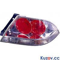 Фонарь задний Mitsubishi Lancer 9 '04-09 правый (DEPO) красно-белый, прозрачный