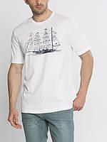Мужская футболка LC Waikiki белого цвета с надписью и рисунком на груди