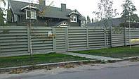 Деревянный забор для загородного дома