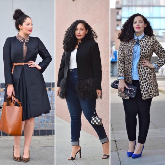 модная одежда больших размеров для женщин