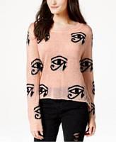 Свитер женский розовый с черным принтом (М)Material Girl