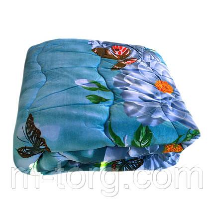 Одеяло двуспальное 180/220 шерсть овечья натуральная, ткань поплин, фото 2