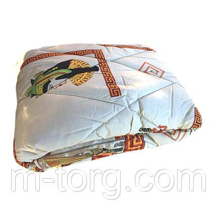 Одеяло полуторное 150/220 шерсть овечья натуральная, ткань поплин, фото 2