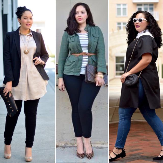 стильная одежда больших размеров для женщин