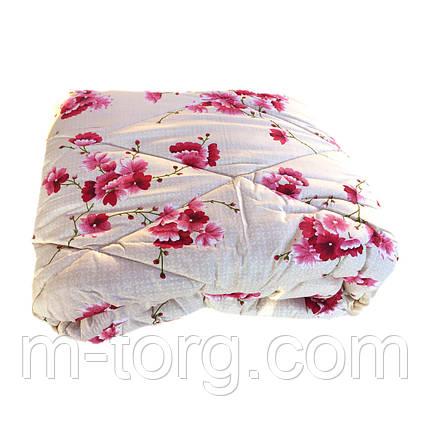 Одеяло евро размер 200/220 шерсть овечья натуральная, ткань поплин, фото 2