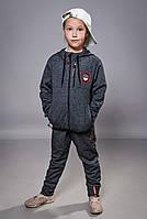 Детский демисезонный школьный костюм для мальчиков и девочек