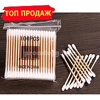 Ватные палочки для ушей Бамбуковые 100шт в упаковке