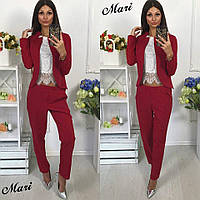 Женский костюм в красном цвете 5П262