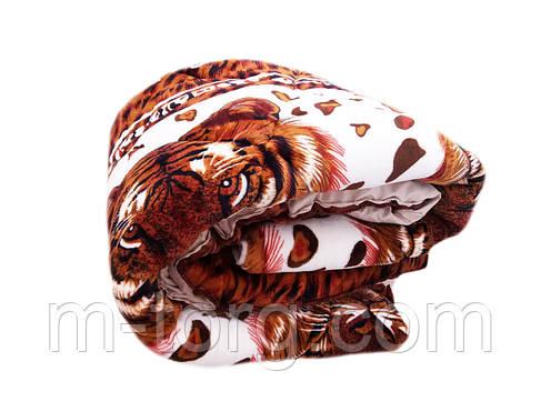 Одеяло-плед двуспальное 180/220 холлофайбер, ткань микрофибра, велюр иск. , фото 2