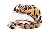 Одеяло-плед евро размер 200/220 холлофайбер, ткань микрофибра, велюр иск.