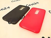 Чехол накладка для LG Optimus G2 розовый и чёрный