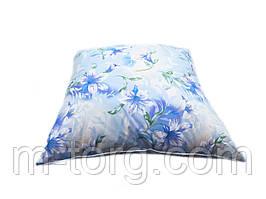 Подушка 70/70 см, downfill ( искусственный лебяжий пух ) , ткань тик