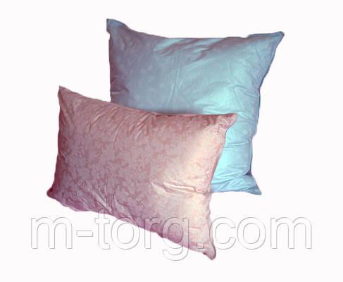 Подушка 70/70 см, downfill ( искусственный лебяжий пух ) , ткань тик, фото 2