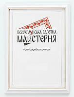 Рамка для документов А5, 15х21 Белая с серебром