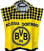 """1Пончо пляжное (детское) """"Borussia dortmund"""" Piramit"""