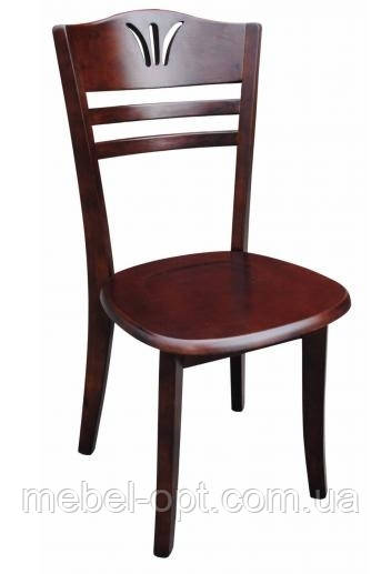 Деревянные стулья для кухни, 055-1, цвет темная вишня.