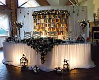 Украшение зала и помещений на свадьбу