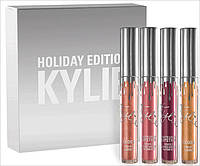 Набор жидких помад Matte Liquid Lipstick Kylie Holiday Edition 4 цвета