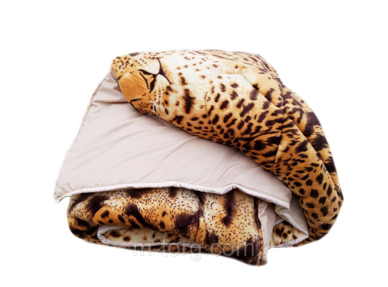 Плед-одеяло полуторный 150/210, микрофибра, велюр иск.