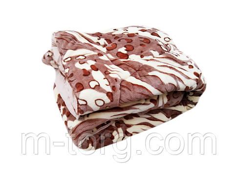 Плед-одеяло двуспальное 180/210 холлофайбер, ткань микрофибра, иск. велюр, фото 2
