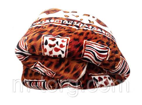 Плед-одеяло двуспальное 180/210 холлофайбер, ткань микрофибра, велюр иск. , фото 2