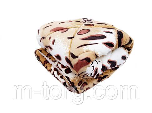 Плед-одеяло двуспальное 180/210 холлофайбер, ткань микрофибра, велюр иск., фото 2