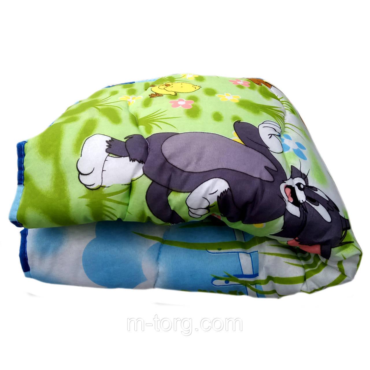 Одеяло детское холлофайбер 110/150 ткань поликоттон