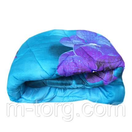 Одеяло полуторное холлофайбер, ткань поликоттон бязь, фото 2