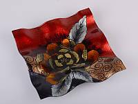 Декоративная стеклянная конфетница Роза 487-072
