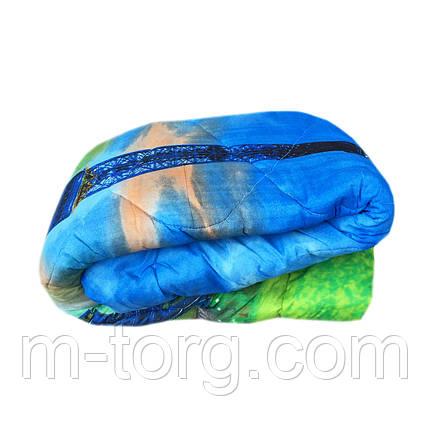 Одеяло полуторное холлофайбер, ткань поликотон, фото 2