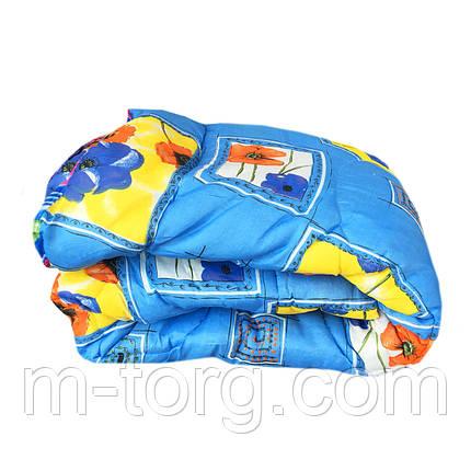 Одеяло евро размер холлофайбер, ткань поликоттон бязь, фото 2