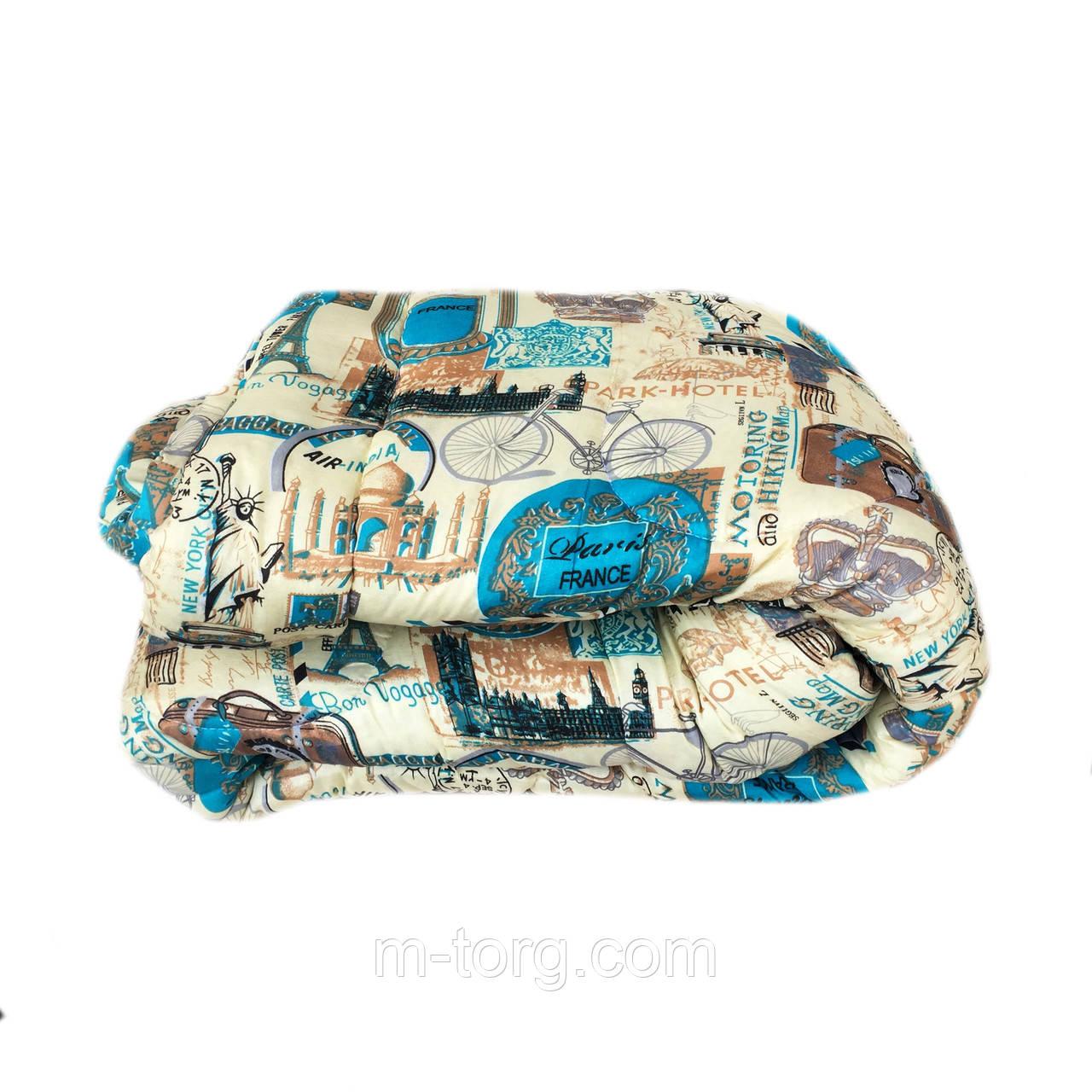 Ковдра євро розмір холлофайбер, тканина бязь полікотон
