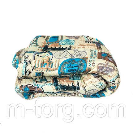 Ковдра євро розмір холлофайбер, тканина бязь полікотон, фото 2