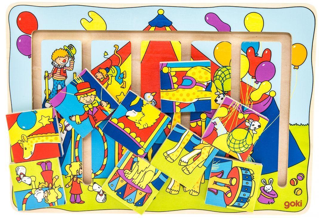 Деревянная интересная игра для детей Цирковое шоу goki 57595